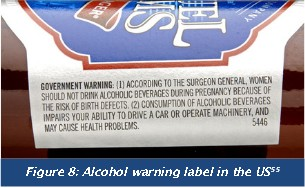 US health warning on alcohol