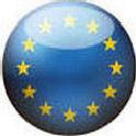 European flag in button